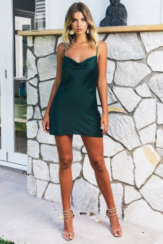 Tune It Up Dress - Deep Green