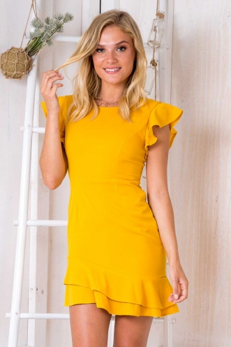 In the moment dress - Mustard