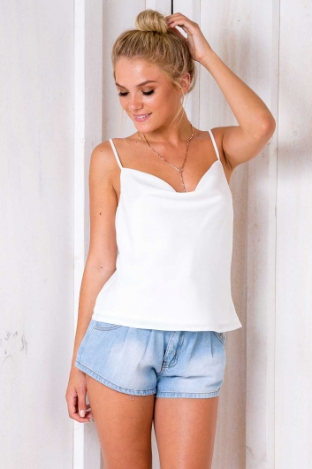 All About Me Top - White