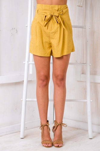 Giselle Shorts - Gold Mustard