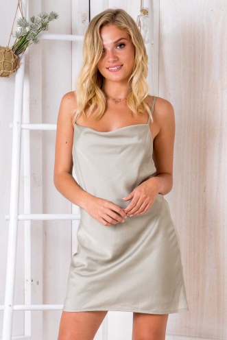 Tune It Up Dress - Khaki