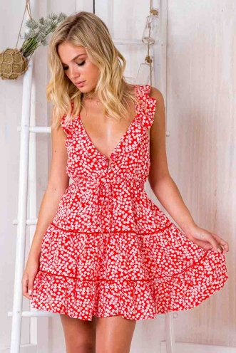 Lost Lover Dress - Red print