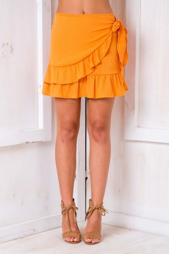 Coconut Cake Skirt - Orange
