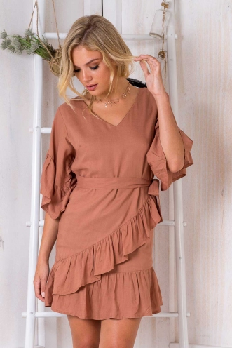 One More Time Dress - Brown