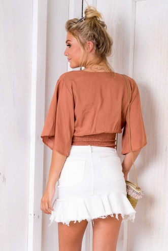Good To Me Top - Brown
