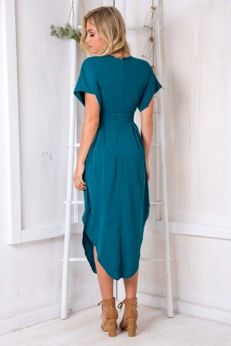 Don't Let Go Dress - Deep Green