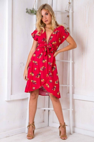 Cherry On Top Dress - Red Print