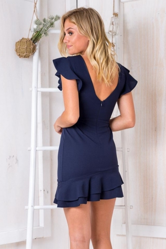 In the moment dress - Navy