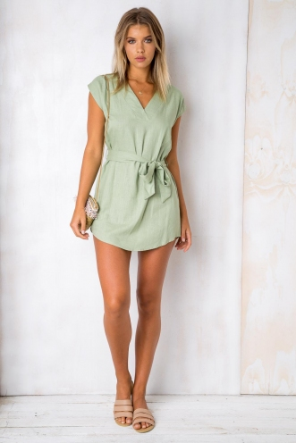 Girl Tribe Dress - Light Green