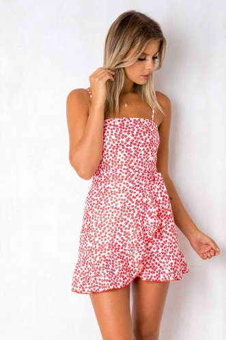 Applebloom Dress - White/Red Print
