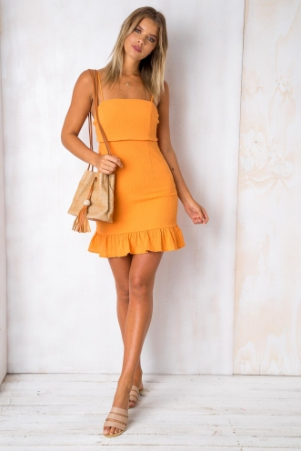 Sweety Pie Dress - Tangerine