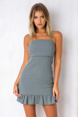 Sweety Pie Dress - Grey