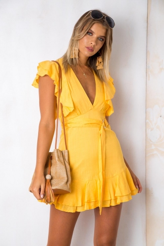 Sweet Sensation Dress - Yellow