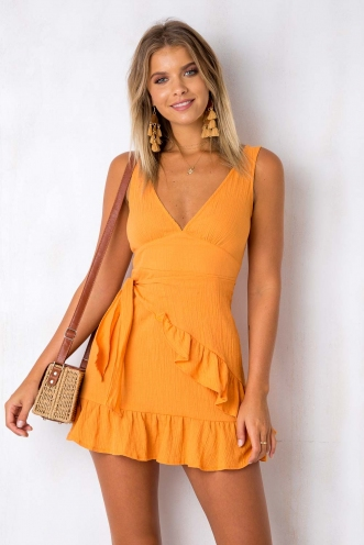 Move Over Dress - Tangerine