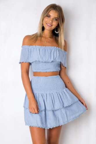 Crossroads Top - Light Blue