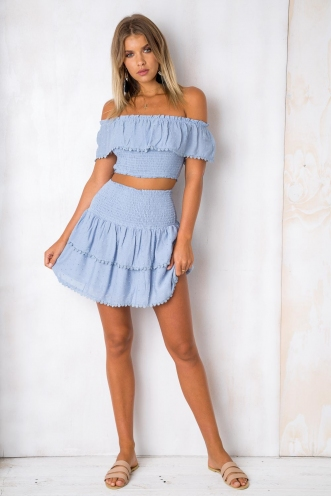 Crossroads Skirt - Light Blue