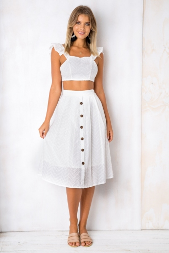 Mellow Me Skirt - White