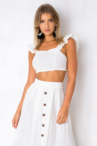 Mellow Me Top - White