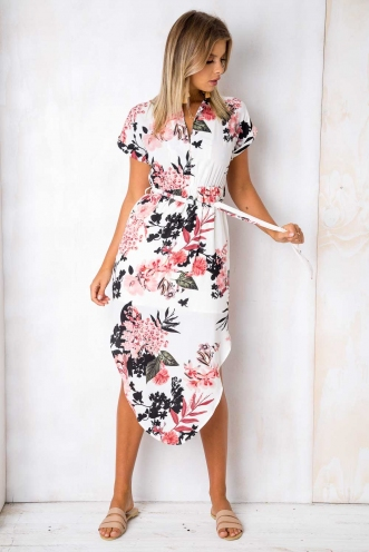 Pippa Dress - Cream Floral