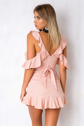 For The Thrill Dress - Dusty Pink