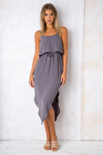 What I Want Relaxed Maxi Dress - Grey