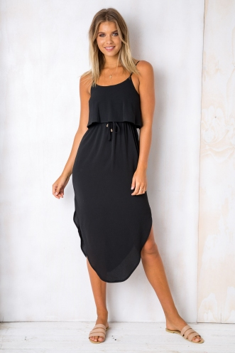 What I Want Relaxed Maxi Dress - Black