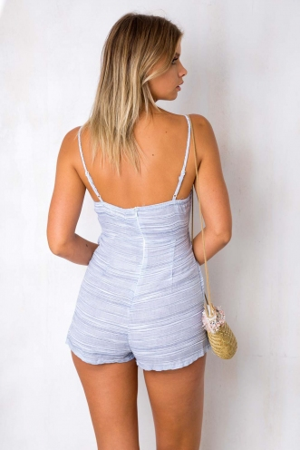 Uptown Funk! Playsuit - Blue Stripe