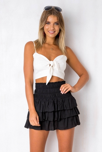 Summer Fair Top - White Linen
