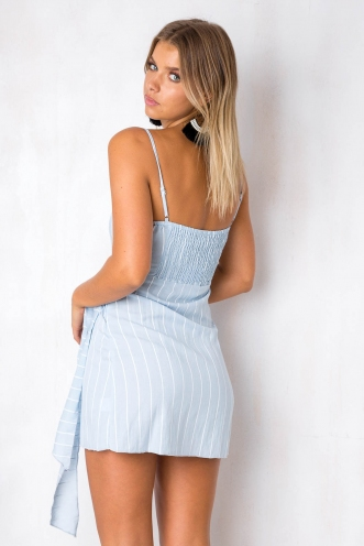 How Would You Feel Dress - Blue Stripe