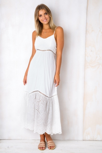 Natures Way Dress - White