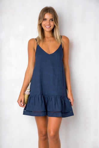 Bobbi Dress - Navy