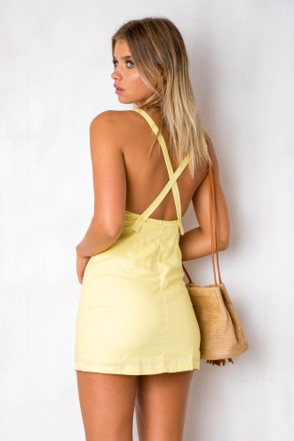 Come Find Me Dress - Yellow