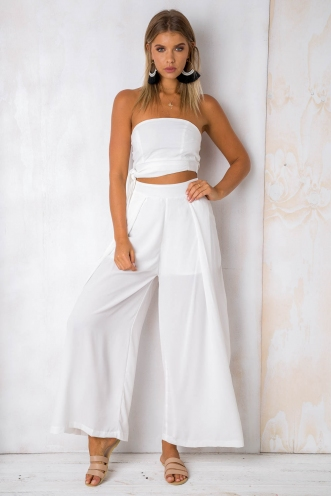 Tropical Getaway Pants - White