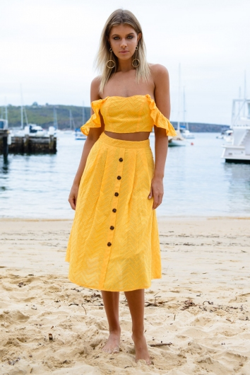 Mellow Me Skirt - Yellow