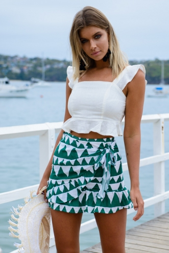 Coconut Cake Skirt - Green Triangle