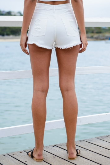 Crystal Mooncake Shorts - White