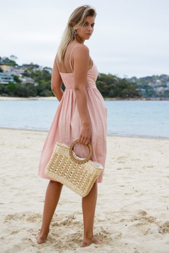 The Tide Is High Dress - Light Pink