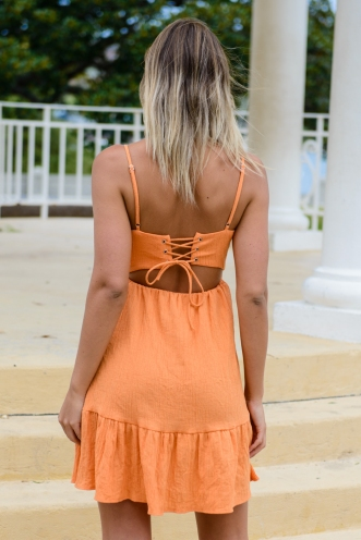 Island Escape Dress - Tangerine