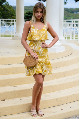 Made for me dress - Mustard print