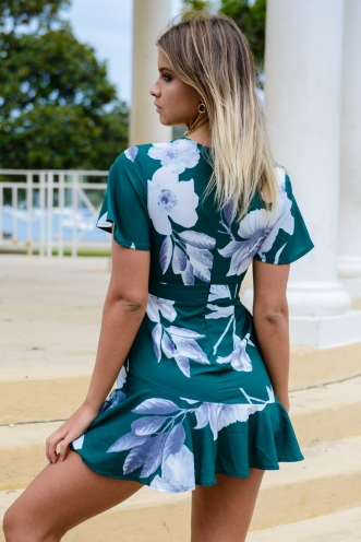 Estelle Dress - Green Print