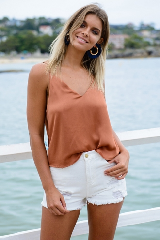 Sunday Morning Top - Terracotta Brown