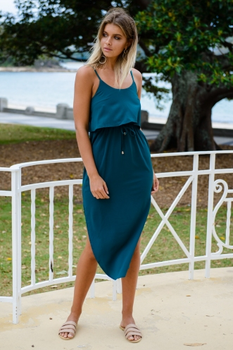 What I Want Relaxed Maxi Dress - Green