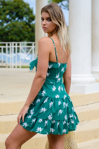 Katerina Dress - Green Floral