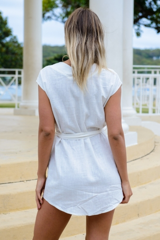 Girl Tribe Dress - White