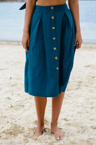 Market Day Skirt - Deep Green
