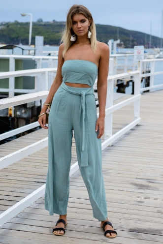 Bring it on jumpsuit - Grey green