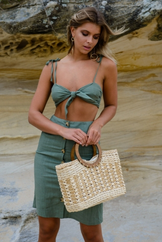 Sugar and Spice Top - Khaki