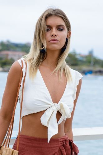 Diandra Top - Off white linen