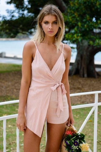 Charlotte Playsuit - Light Pink