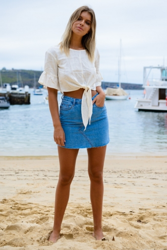 Casual Fridays Top - Off White Linen
